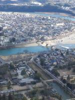 岩国城展望台からの眺め