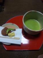 抹茶と黄金栗饅頭