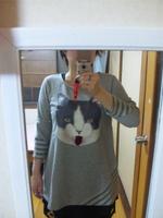 ベロ出し猫チュニック